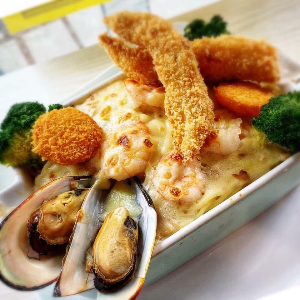匡樂冰室-芝士焗海鮮飯